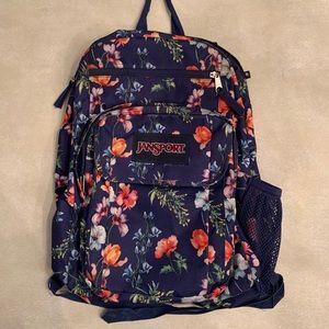 jansport // watercolour flower backpack